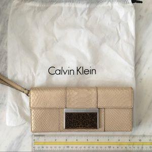 Calvin Klein Pearlized Python Slim Wristlet